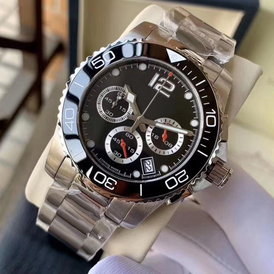 2020 F1 orologio di lusso Homens relógios de quartzo Racer 33 Chronograph movimento de pulso de dois tons 45 milímetros Dial Sports Uhren