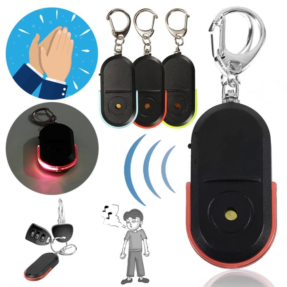 En Yeni Akıllı Kablosuz Anti-Kayıp Alarm Key Finder Bulucu Anahtarlık Düdük Ses LED Işık şeyler Tracker Anti-Kayıp Cihaz