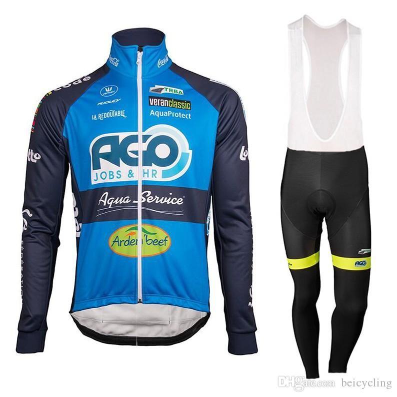 2018 Maillot cyclisme manches longues et pantalons de cyclisme vélo Kits sangle B18040201