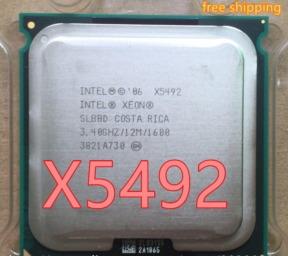 Intel Xeon X5492 3.4GHz/12MB/1600MHz/Quad Core Server LGA 771 CPU/SLBBD(working 100% Free Shipping)