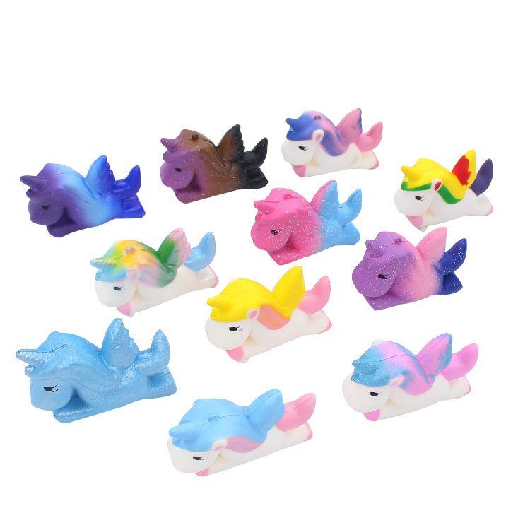 2019 Yeni Varış Squishy Unicorn Oyuncaklar 11.5 cm Anti-Stres Unicorn Squishies PU Köpük Kawaii Hediyeler için Yavaş Yükselen Oyuncaklar