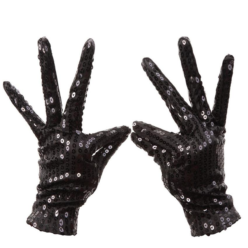 Festival Sparkle Sequin Wrist Full Finger Gloves Party Play Dance Event Kids Unisex Tactical Gloves Touchscreen Gloves Guantes