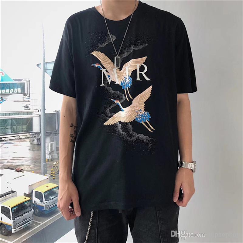 Herren T-Shirt Mode-Sommer-T-Shirt Crane Printing Stylist-T-Shirt Hip Hop Mode Männer Frauen Short Sleeve Tees S-XXL