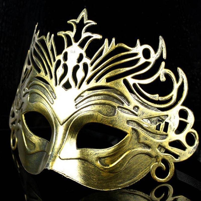 Roman Soldier Male Filigree Laser Cut Men Venetian Masquerade Eye Masks Party Halloween Cosplay Wedding Mardi Gras Ball Masks WY822