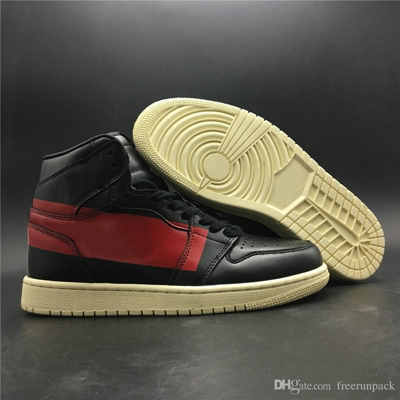 Novo Personalizado 1 Alta OG Desafiante Designer Homem Sapatos De Basquete Popular I Gym Preto Muslin Vermelho Moda Tênis Esportivos de Boa Qualidade