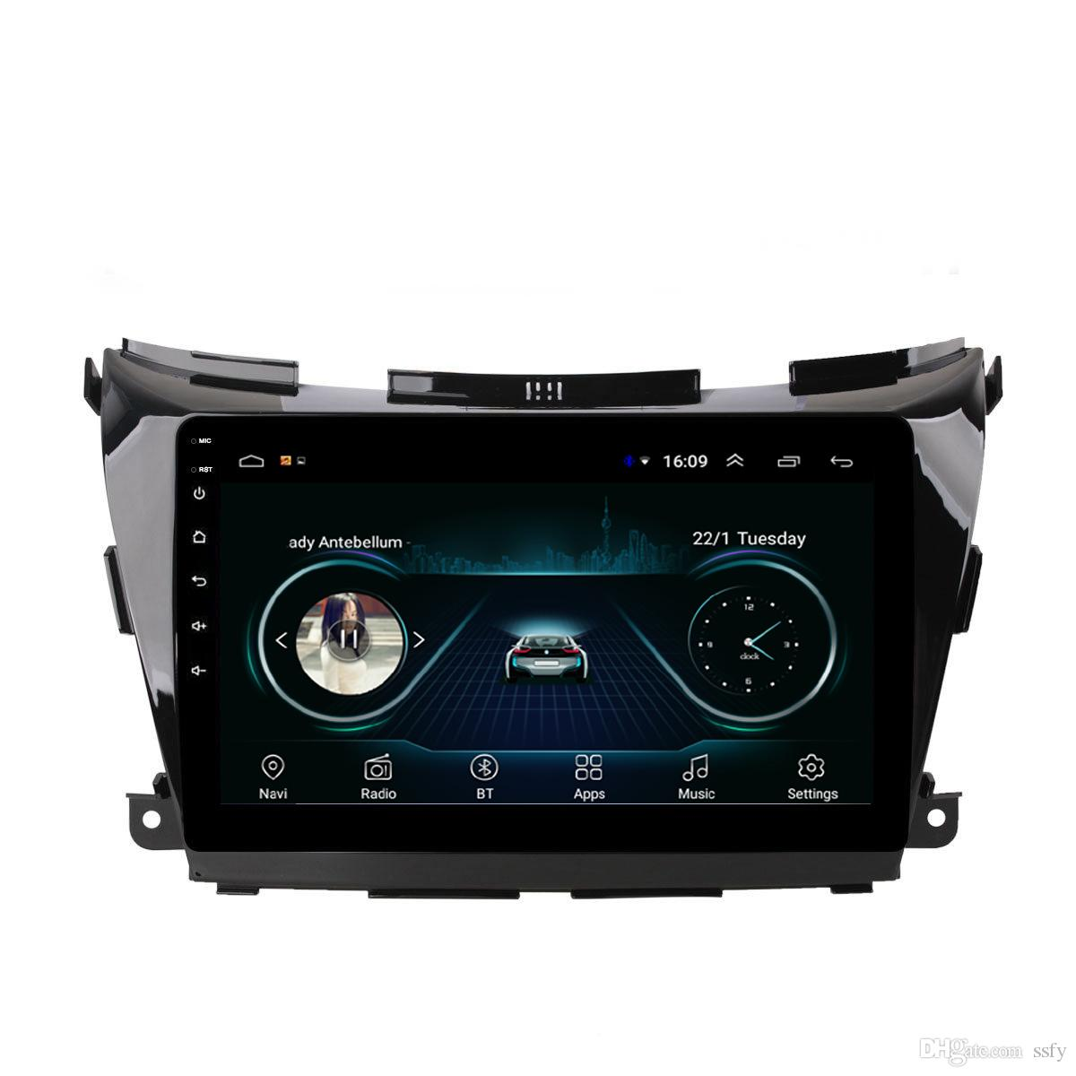 Android car radio with precise GPS multimedia player vidio Resolution HD 1024* 600 excellent microphone for Nissan Murano 2015-2017 10.1inch