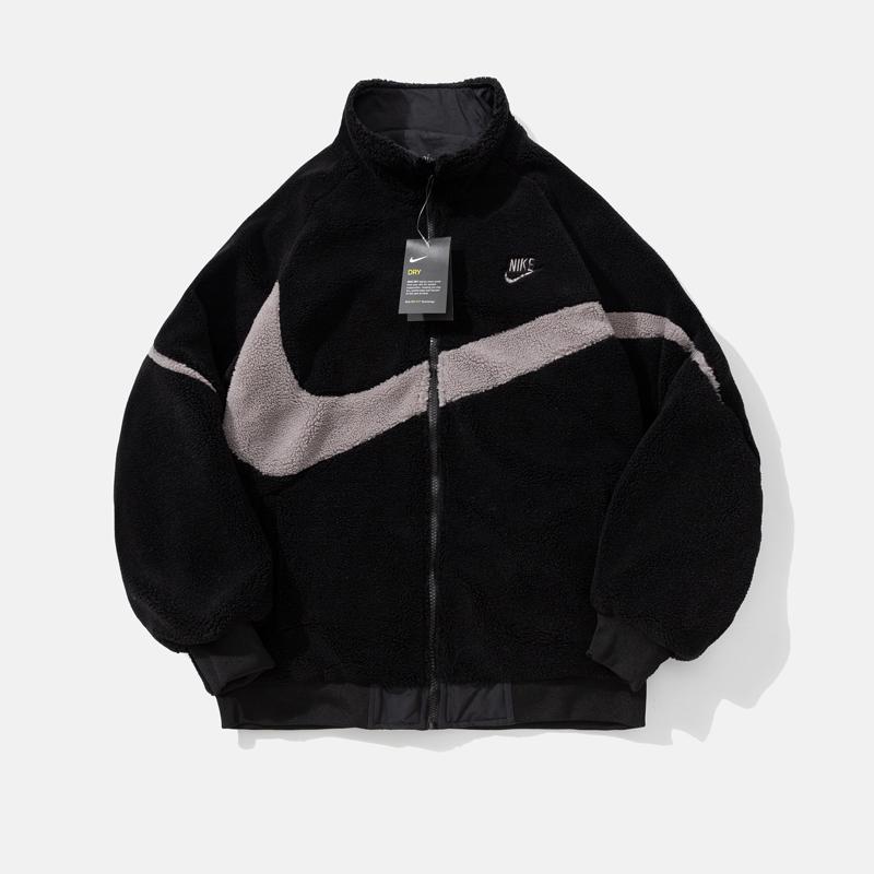 Brasão Double Side Moda Mens Mulheres de Down Sports veludo jaqueta de inverno Cashmere Jackets Keep Warm Zipper Outdoor com capuz Windbreaker C B103490L