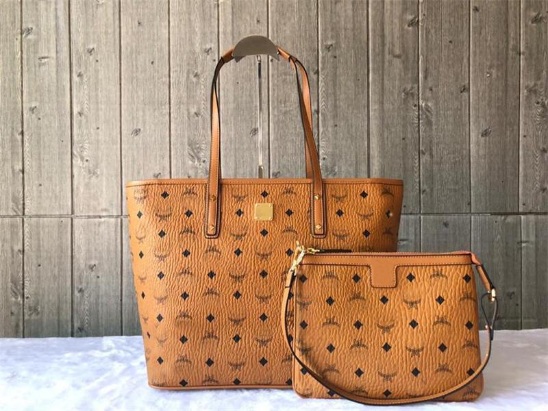 M Frauen Tragetaschen Handtasche Geldbeutel des echten Rindleder hochwertige Schulterbeutel Geldbeutel Geldbeutel der großen Kapazität Einkaufstasche