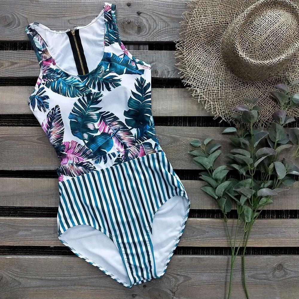 2020 Sexy One Piece Swimsuit Swimwear Bodysuit Swimsuits verão Beachwear trajes de banho Monokini Push Up Swimsuit