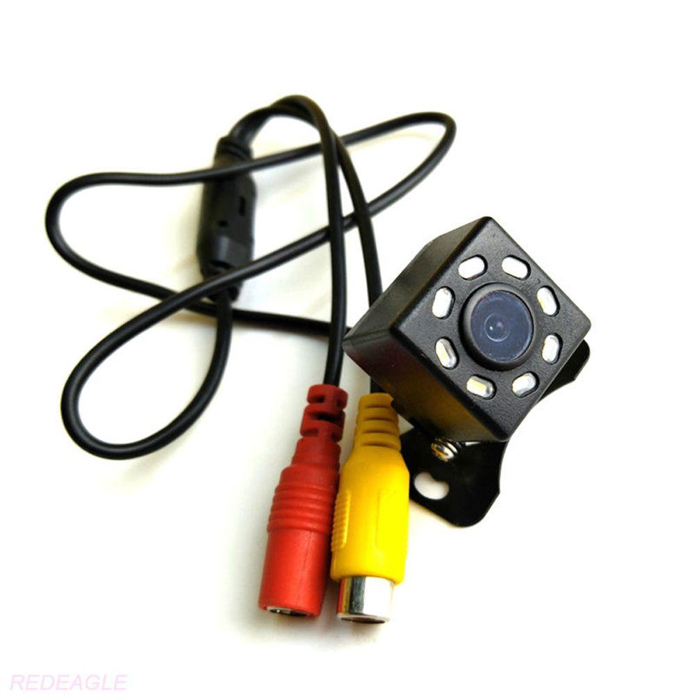 자동차 후면보기 카메라 범용 백업 주차 카메라 8 LED 나이트 비전 방수 120 학위 와이드 앵글 HD 비디오
