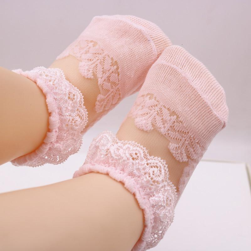 Cute Lace Flower Mesh Summer Newborn Baby Socks Cotton Girl Angel Wings Anti Slip Calcetines Skarpetki Sokken SH190916