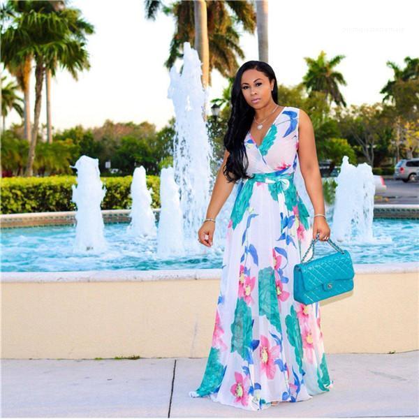 Designer Lange Ärmel Kleider der beiläufigen Frauen Kleidung Blumen Luxus-Frauen-beiläufige Kleider Mode Gürtel Panelled Frauen