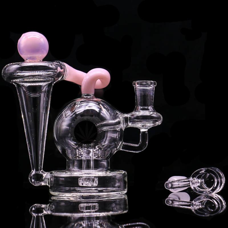 Hot vendre verre d'eau recycleur Dab Rig Glass Wax Herb tabac Bongs huile verre Rig barboteur