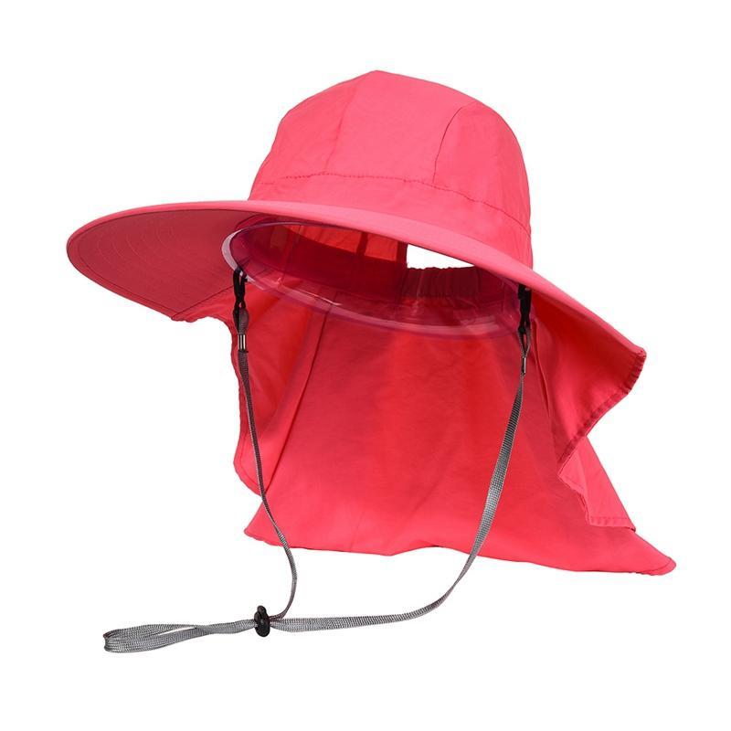 Extérieur Flap Cap large Brim Pare-soleil couverture pliable Mesh Sweatband cou seau sport Accessoires Camping Chasse Chapeau