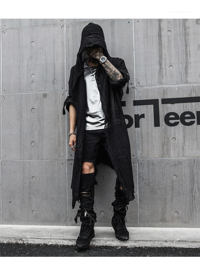 Moda Homme Cardigan Casual Vestuário solto Designer Mens Primavera New Hoodies Soild Estilo roupas longas
