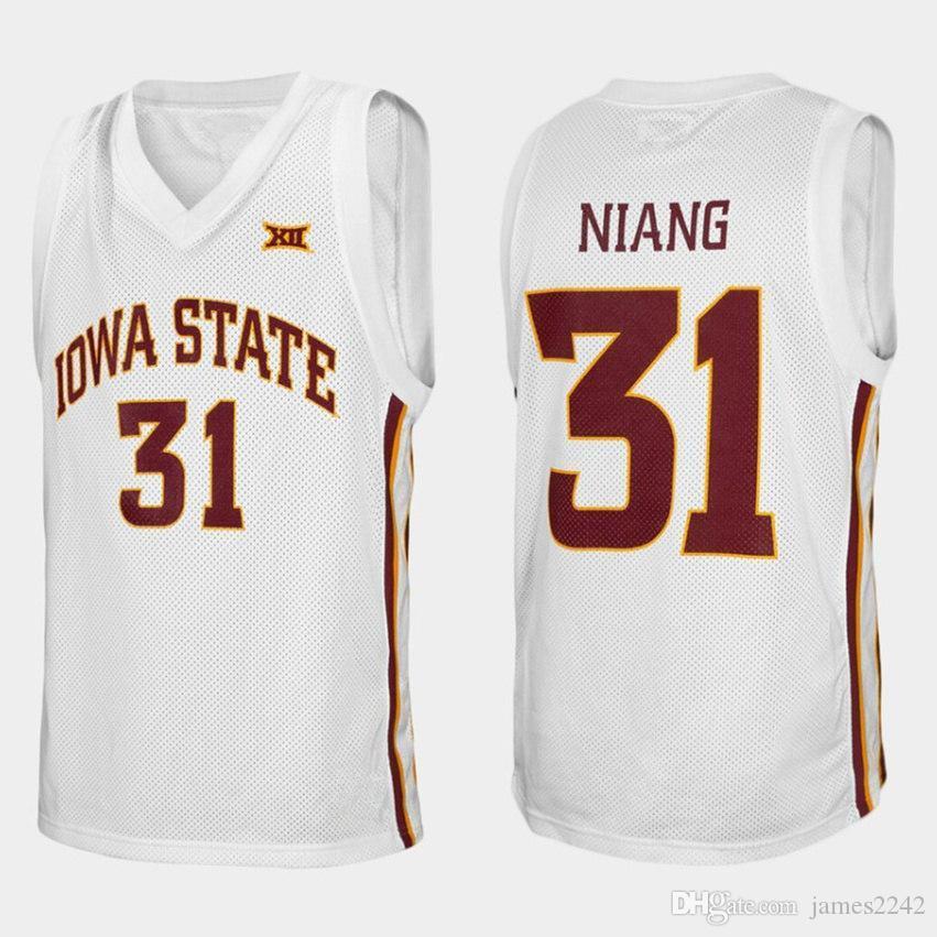 Iowa State Cyclones College Georges Niang N ° 31 Blanc Retro Basketball Jersey Numéro de Numéros personnalisé pour homme