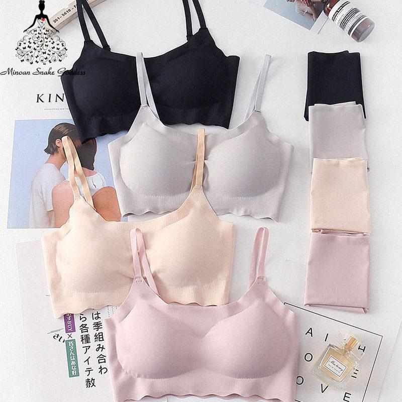 Seamless Bra Set For Women Underwear Push Up Lingerie Set Wire Free Bra And Panty Set Plus Size S M L XL Size Intimates