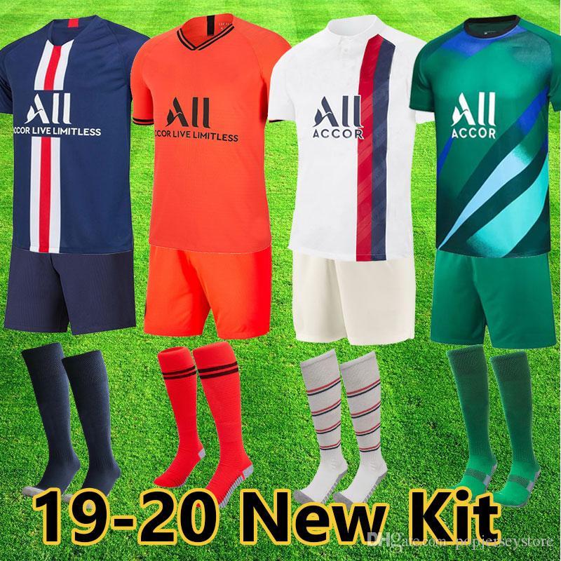 PSG Trikot für Erwachsene Erwachsenen Kit Paris saint germain Teamordnung 2019 MBAPPE CAVANI VERRATTI Shorts Socken 18 19 Trikot mit Fußball-Trikot für Männer
