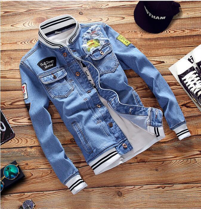 collare autunno Primavera monopetto a maniche lunghe giacca di jeans denim casuale vestiti uomini donne paio rivestimento tuta sportiva del cappotto