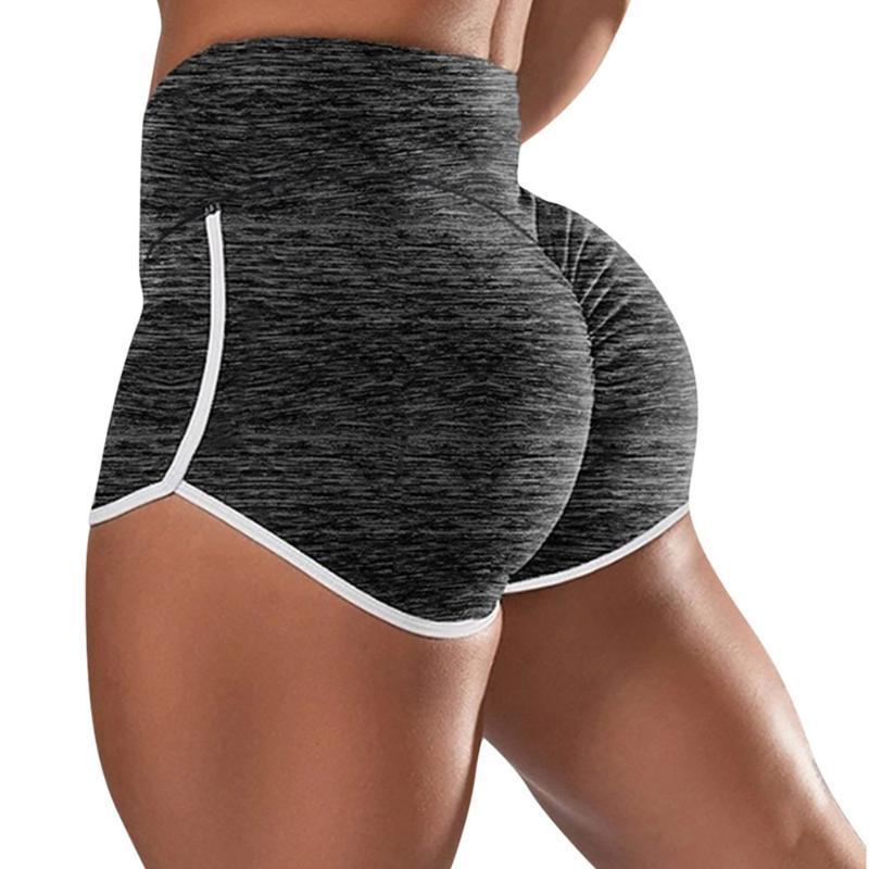 Plus Size Frauen Yoga Shorts mit hohen Taille, figurbetonter laufenden Trainings-Gymnastik-Eignung-Trainings-Sport-Hosen-Sport Up Shorts drücken