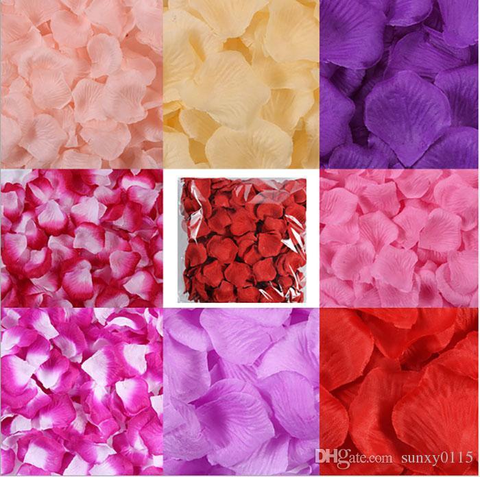 Sıcak satış 11000 adet / kg Ucuz İpek Gül Çiçek Yaprakları dokunmamış kumaş Yapay Çiçekler Düğün Doğum Günü parti Süslemeleri ücret ...
