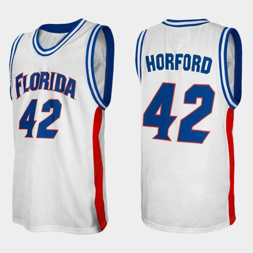 Florida Gators College Al Horford N ° 42 White Retro Jersey de basketball masculin Nom de Nom personnalisé Customé Jerseys