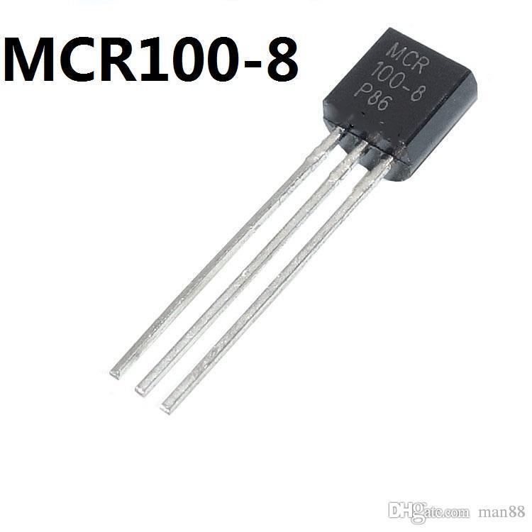 MCR100-8 في اتجاه واحد الثايرستور 1A 600V في خط TO-92
