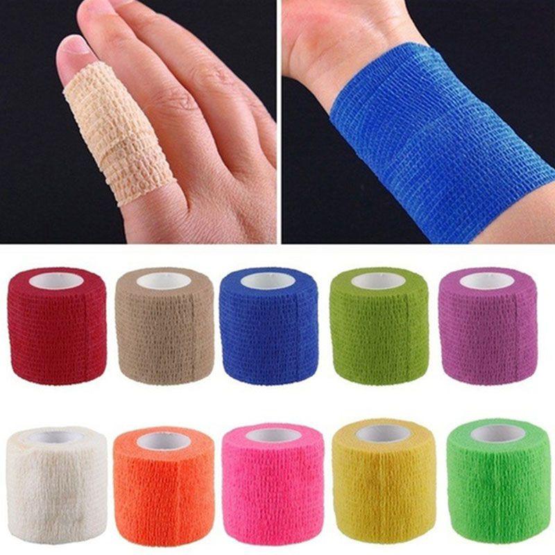 5m x 4,5 centimetri autoadesivo non tessuto elastico-fasciature di protezione di sicurezza di primo soccorso impermeabile Elasticità Bandage