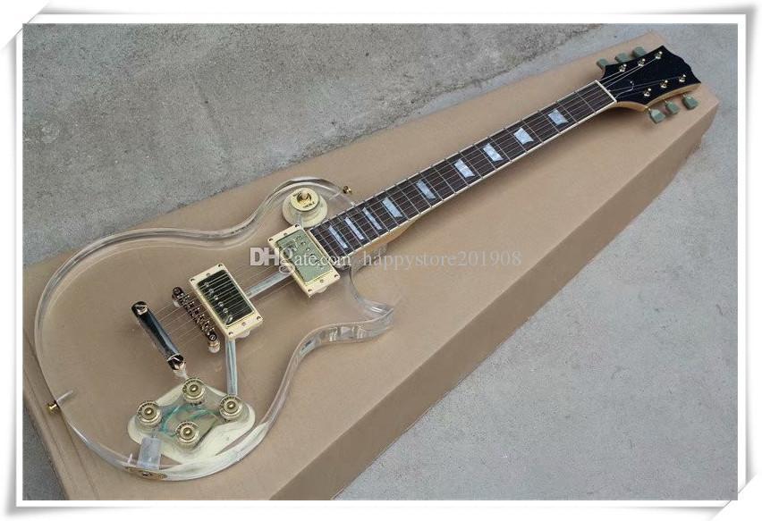 Chitarra elettrica dell'hardware dell'hardware dorata della dimensione standard della fabbrica Golden Golden Hardware con il ponte fisso, può essere personalizzato