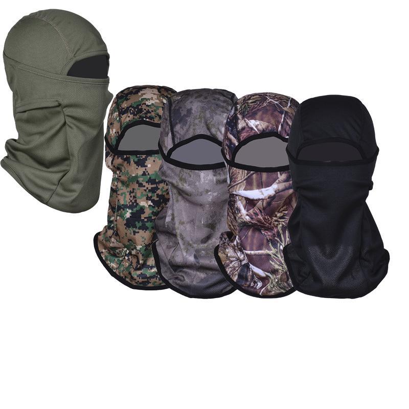 Máscara camuflagem apertado Balaclava Tactical Airsoft caça ao ar livre militar motocicleta Ski Ciclismo Facial