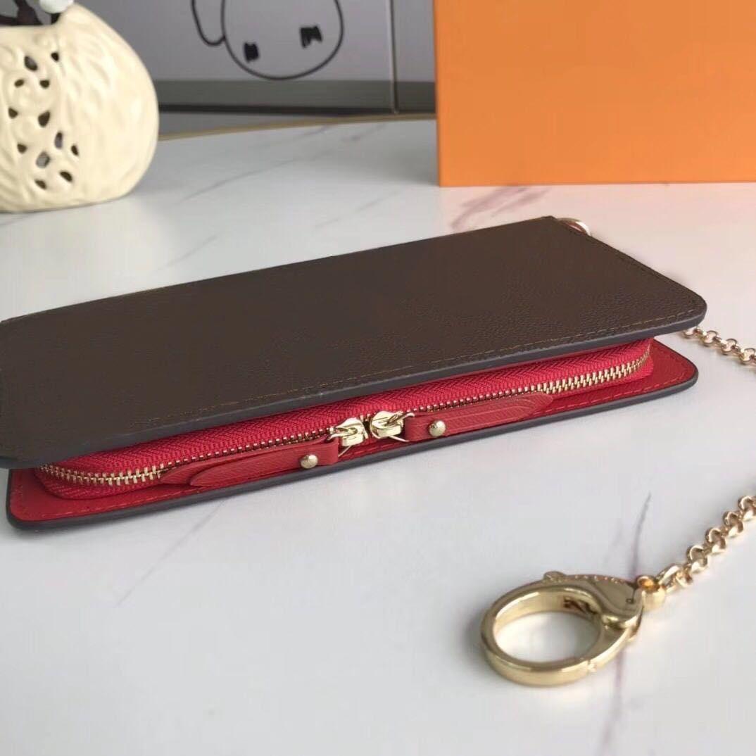 Designer Brieftasche Organizer Mappe für Frauen Standard-Brieftasche Kette Geldbörse Leder Dame langen Geldbeutel moneybag Mäppchen Münzfach Mann Kupplung