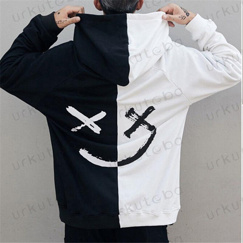 Dropshipping Tedarikçiler Erkekler Hoodies Tişörtü Gülümseme Baskı Şapkalar Hoodie Hip Hop Streetwear Giyim Abd Boyutu Artı Boyutu 3xl
