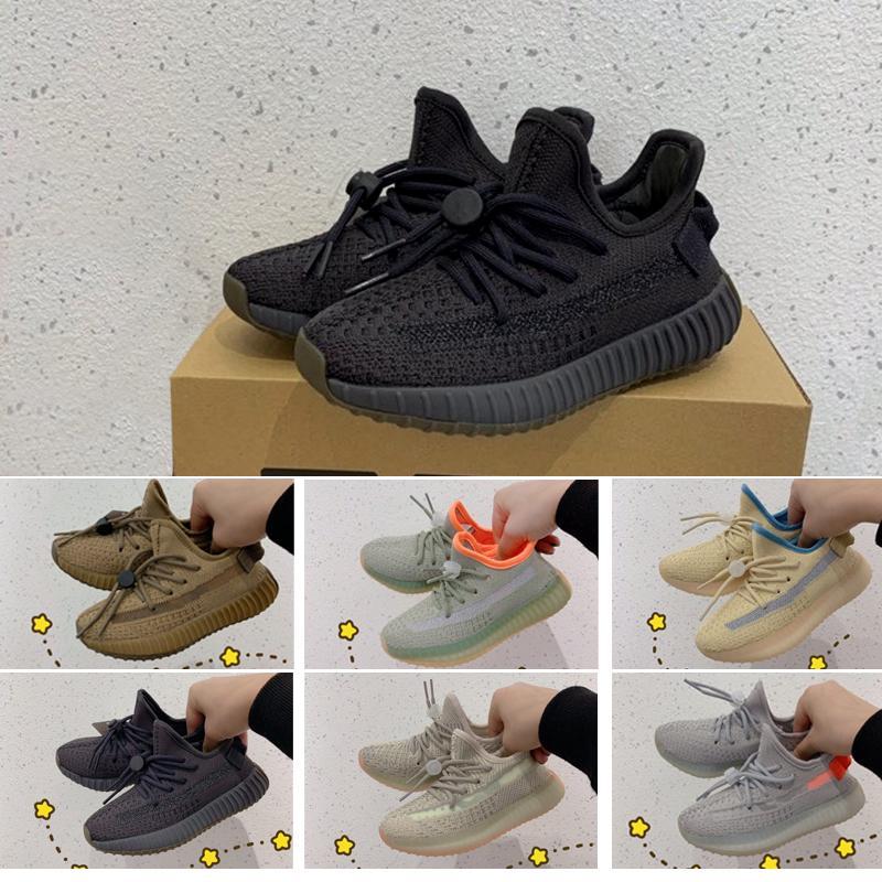 2020 최고 품질 카니 예 웨스트 리넨 황 테일 라이트 신발 지구 사막 세이지 Zyon 3M 반사 Yecheil 남성 여성 디자이너 신발을 실행