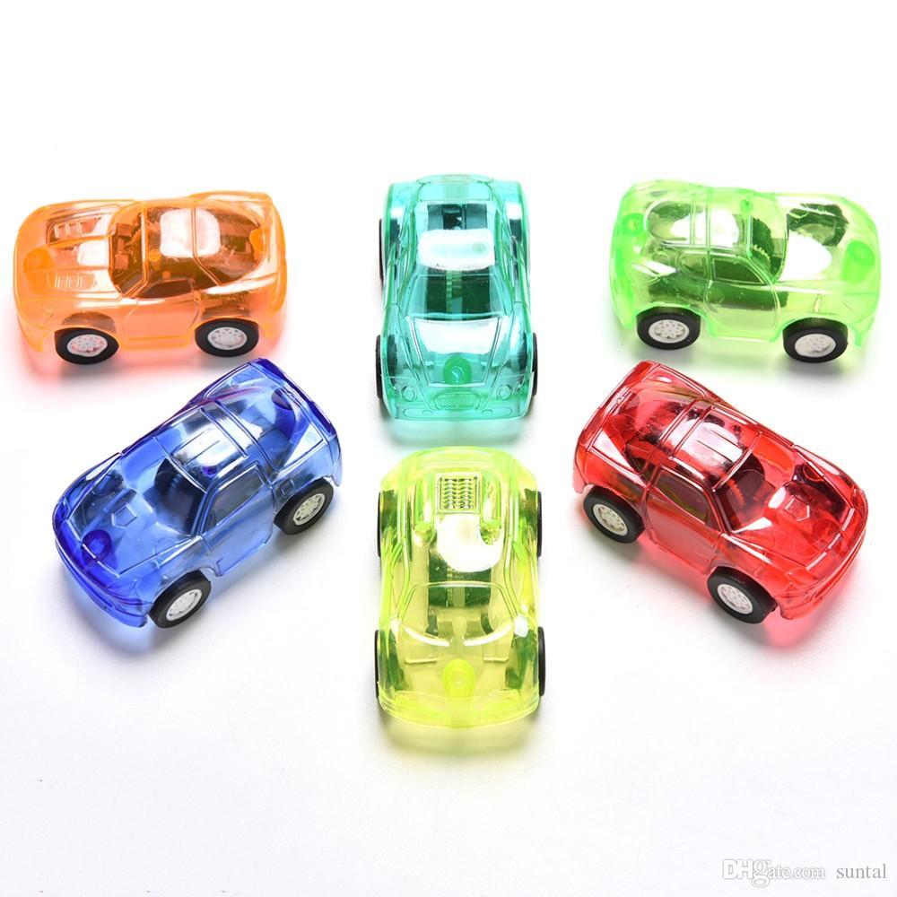 Sıcak Satış Şeker Renk Plastik Mini Cep Araba geri Çekin Araba Modeli Çocuk Oyuncakları Boys Için Eğitici Çocuk için En Iyi Noel Hediyesi