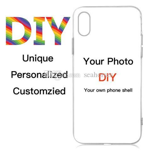 Özel Tasarım DIY Logo / Fotoğraf Sert Telefon Kılıfı 5 5S SE 6 6S 7 Artı Özelleştirilmiş Baskılı Arka Kapak İçin