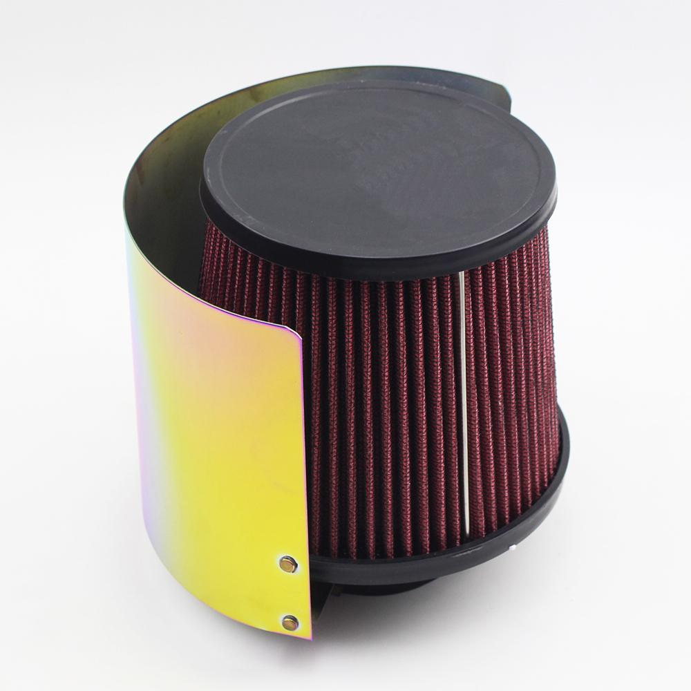 """Stainless Steel Universal Titanizing Air Filter Heat Shield Air Filter Protect Cover For 2.25"""" TO 3.5"""" inch Cone"""