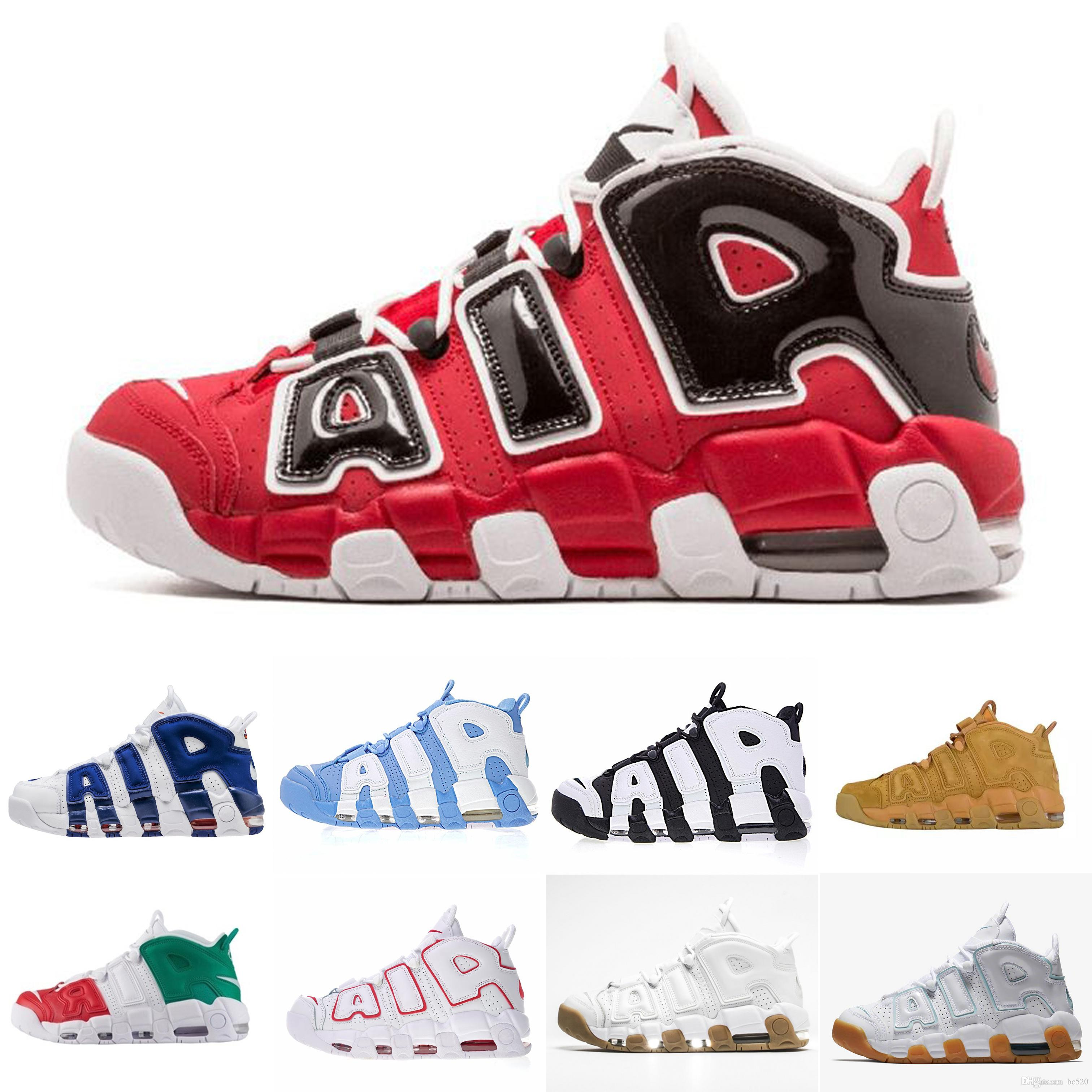 High Quality Air Cushion Uptempo Basketball Shoes For Men Women 96 QS Olympic Varsity Maroon 3M Scottie Pippen Sports Sneakers Size 36-45