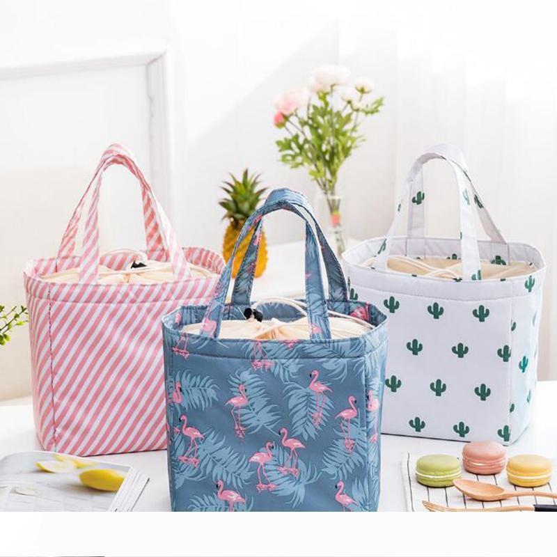 Б новый портативный водонепроницаемый обед сумка многоразового пользования обед сумка для хранения сумка шнурок обед сумка складной большой емкости для женщины И.