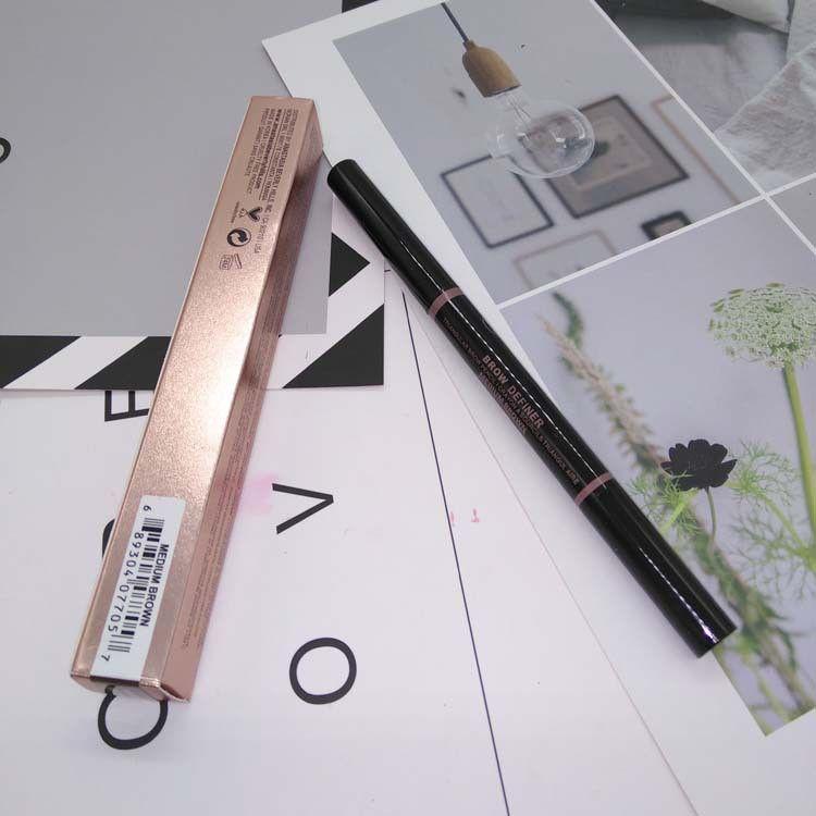 ГОРЯЧАЯ макияж 5 цветов Макияж Фонд двойной конец Карандаш для бровей бровей Pen Ebony шоколада Бесплатная доставка DHL