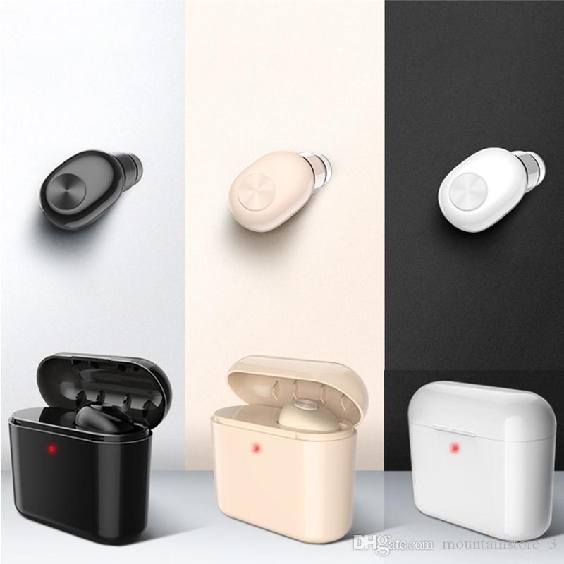 Мини беспроводная Bluetooth-гарнитура для наушников с гарнитурой для зарядки для всех смартфонов Iphone Samsung (розничная торговля)