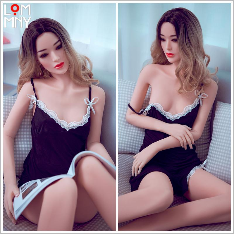 LOMMNY 165cm Sex doll big ass real silicone love doll live like male full body silicone sex doll long nipples big tits Women for men