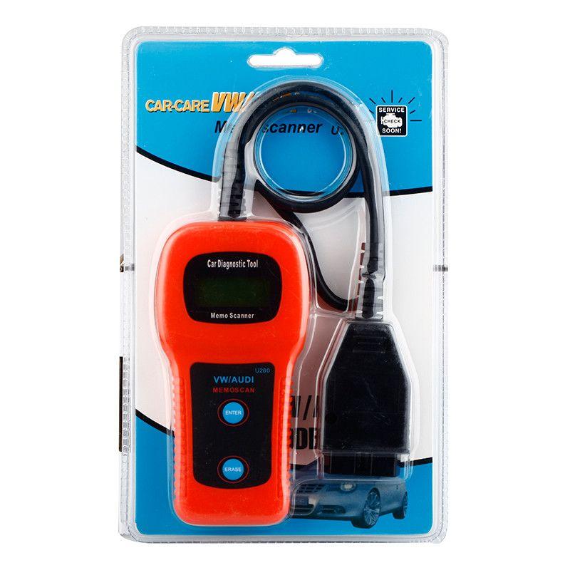OBD2 OBDII Memo Scanner U280 Diagnostic Code Reader CAN VW AUDI محرك السيارات خطأ محلل أداة تشخيص رمز قارئ أدوات المسح الضوئي