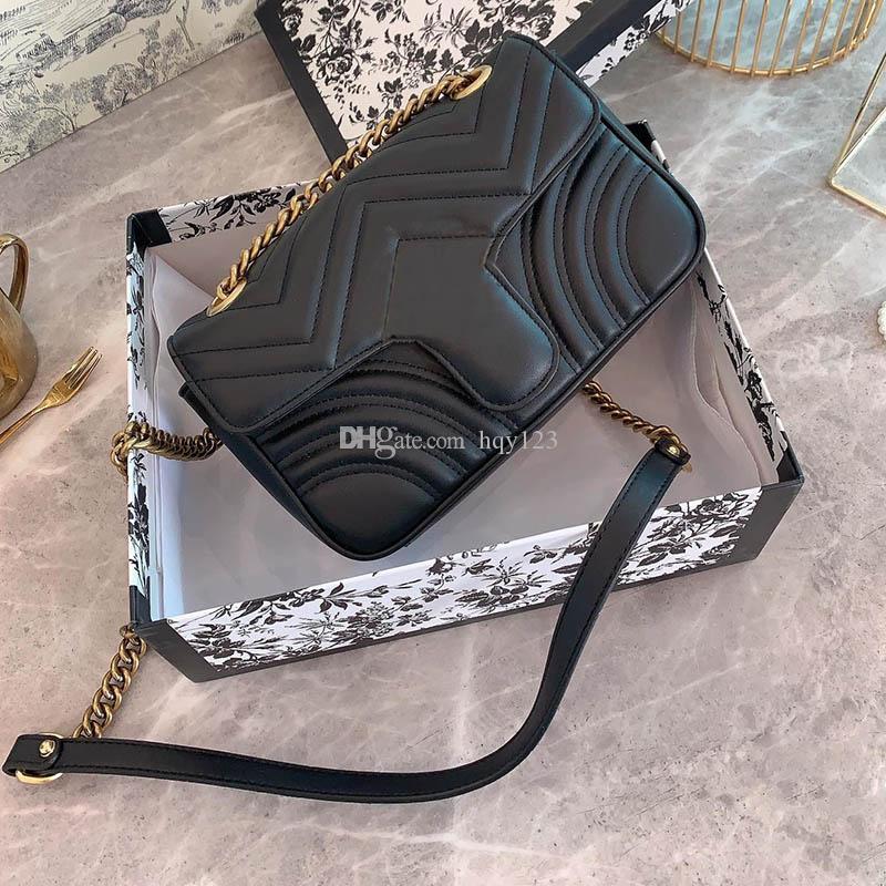 أكياس MARMONT الكلاسيكية وحقائب اليد أزياء المرأة ميلان تظهر النساء الشهير نموذج حقيبة الكتف حجم 23CM 443497