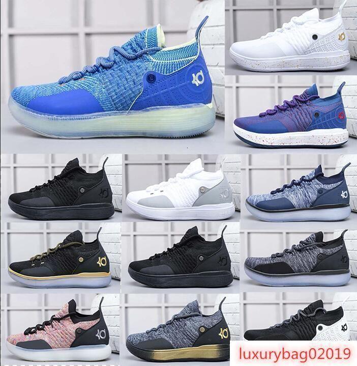 Marca Hot Mens KD11 tênis de basquete Low Barons Win como basquete Sneakers Shoes marca desenhador para Shoes Homens Desportos 40-46