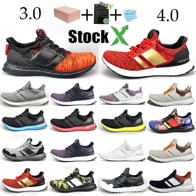 New Ultraboost Running Shoes 3.0 4.0 Designer shoes triple Core Balck White Oreo Nights Watch House Lannister men women Sneakers Trainers