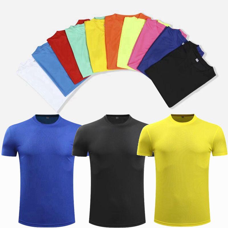 Hombres Mujeres Deporte de camisas de manga corta de deporte Fitness Gym camisa rápida seco ligero y transpirable Formación camiseta