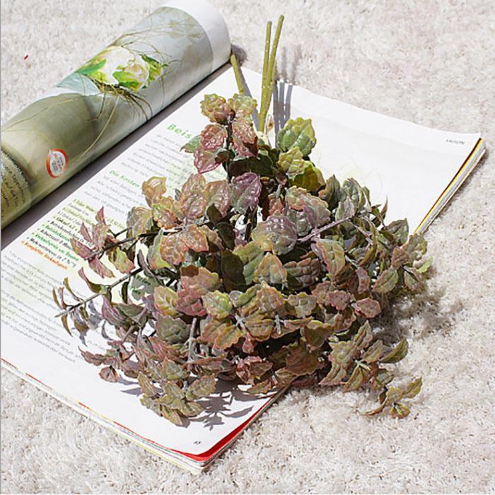 Yeni 3 Renk Plastik Yapay Çiçek Yapraklar Nane Yaprak Buket Holding Çiçek Salon Ev Dekorasyon Yatak Odası Ev Düğün Dekorasyon