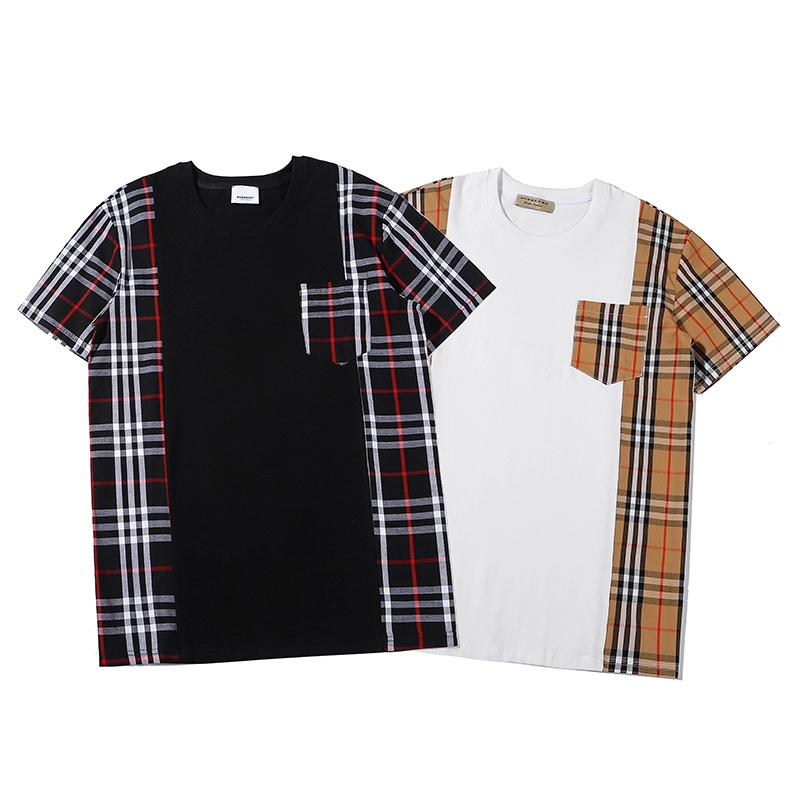 I nuovi Mens del progettista T-shirt da donna T shirt di marca con pannelli maglietta donne degli uomini di lusso Patchwork Tees Felpe Moda Streetwear C1 2040200V