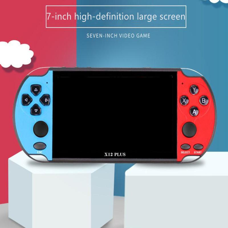 X12 PLUS 7.0 inch Double Rocker 16GB Support TV Output Retro Portable Handheld Video Game Console