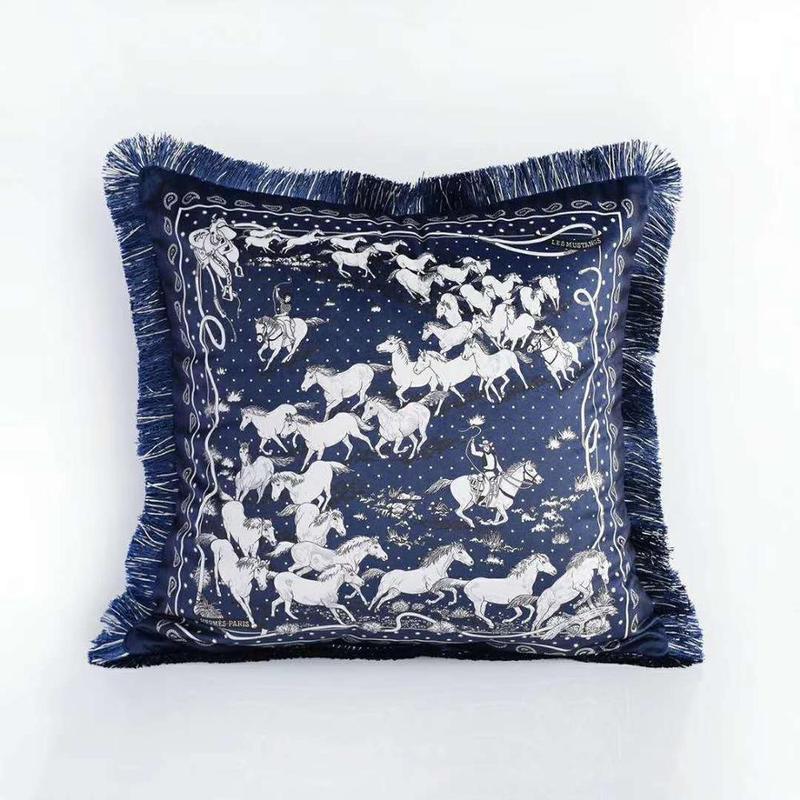 Home Decorative Velvet Leopard Horse Cushion Cover Seat Car Home Sofa Bed Decorative Pillowcases *women Throw Pillow Case